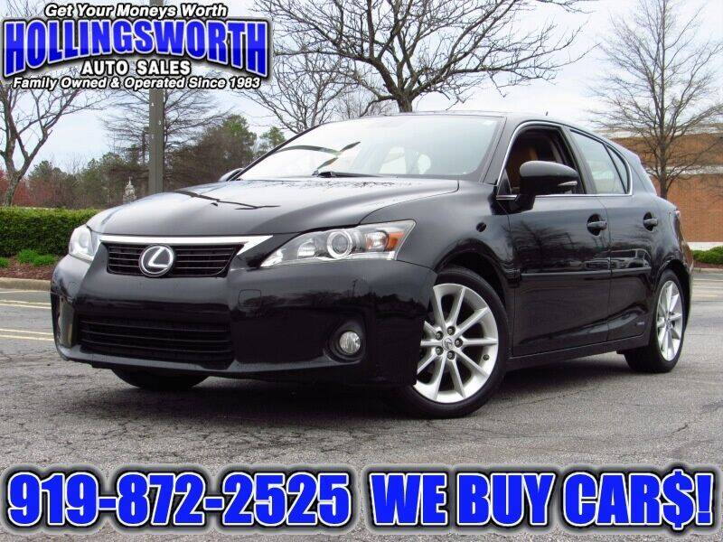2012 Lexus CT 200h for sale at Hollingsworth Auto Sales in Raleigh NC