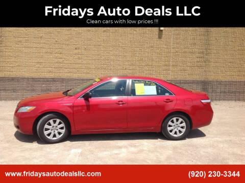 2007 Toyota Camry Hybrid for sale at Fridays Auto Deals LLC in Oshkosh WI