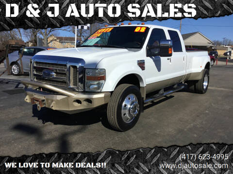 2008 Ford F-450 Super Duty for sale at D & J AUTO SALES in Joplin MO