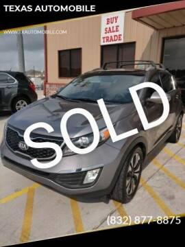 2013 Kia Sportage for sale at TEXAS AUTOMOBILE in Houston TX