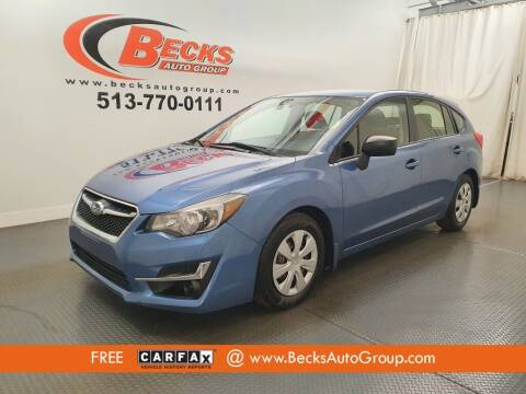2015 Subaru Impreza for sale at Becks Auto Group in Mason OH