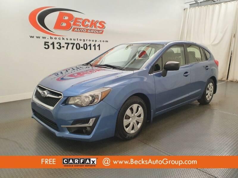 2015 Subaru Impreza for sale at Becks Auto Group in Mason OH
