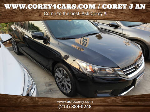 2015 Honda Accord for sale at WWW.COREY4CARS.COM / COREY J AN in Los Angeles CA