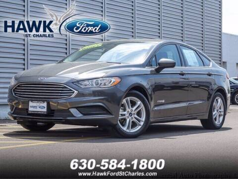 2018 Ford Fusion Hybrid for sale at Hawk Ford of St. Charles in St Charles IL