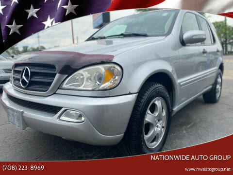2002 Mercedes-Benz M-Class for sale at Nationwide Auto Group in Melrose Park IL