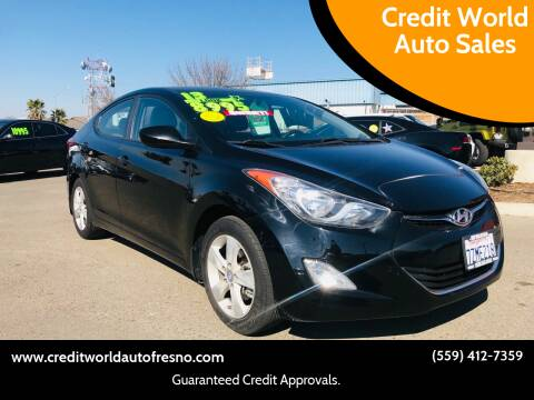 2013 Hyundai Elantra for sale at Credit World Auto Sales in Fresno CA