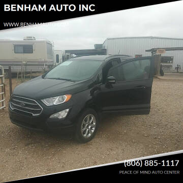 2018 Ford EcoSport for sale at BENHAM AUTO INC in Lubbock TX
