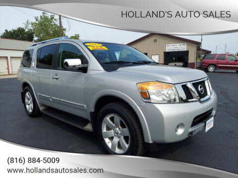 2012 Nissan Armada for sale at Holland's Auto Sales in Harrisonville MO