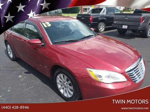 2013 Chrysler 200 for sale at TWIN MOTORS in Madison OH