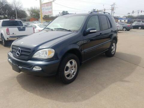 2002 Mercedes-Benz M-Class for sale at Nile Auto in Fort Worth TX