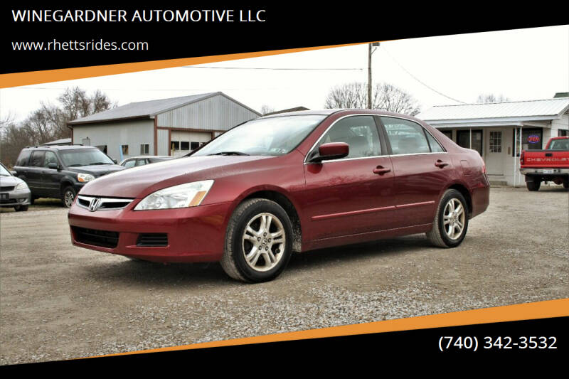 2006 Honda Accord for sale at WINEGARDNER AUTOMOTIVE LLC in New Lexington OH