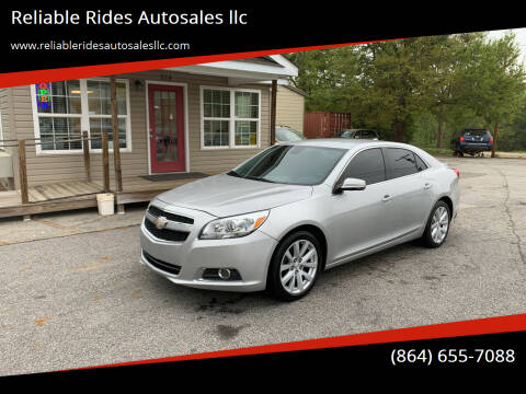 2013 Chevrolet Malibu for sale at Reliable Rides Autosales llc in Greer SC
