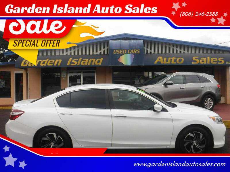 2016 Honda Accord for sale at Garden Island Auto Sales in Lihue HI