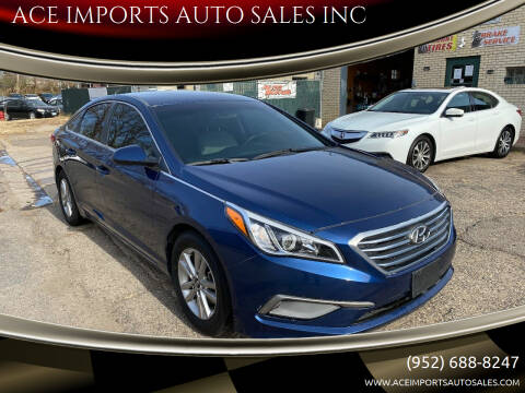 2016 Hyundai Sonata for sale at ACE IMPORTS AUTO SALES INC in Hopkins MN