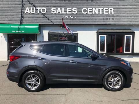 2018 Hyundai Santa Fe Sport for sale at Auto Sales Center Inc in Holyoke MA
