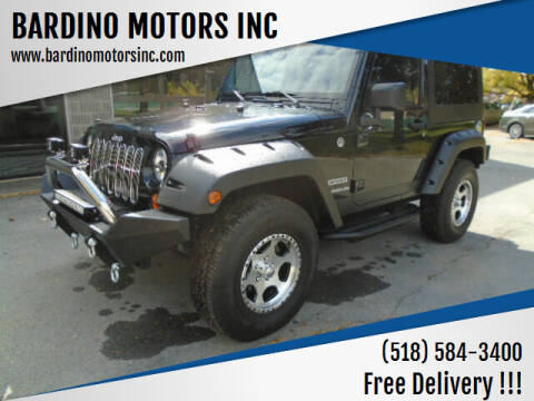 2012 Jeep Wrangler for sale at BARDINO MOTORS INC in Saratoga Springs NY