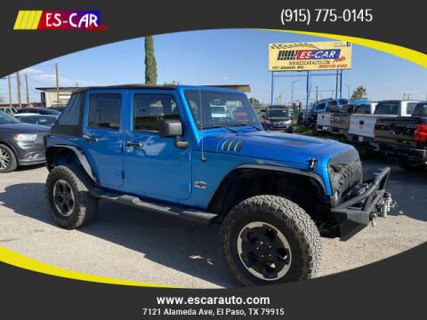 2014 Jeep Wrangler Unlimited for sale at Escar Auto in El Paso TX