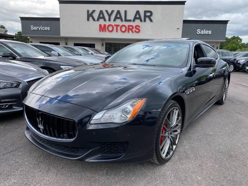 2014 Maserati Quattroporte for sale at KAYALAR MOTORS in Houston TX