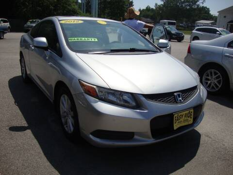 2012 Honda Civic for sale at Easy Ride Auto Sales Inc in Chester VA