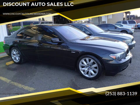 2004 BMW 7 Series for sale at DISCOUNT AUTO SALES LLC in Spanaway WA