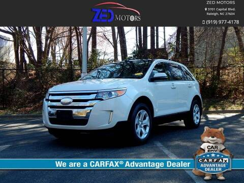 2013 Ford Edge for sale at Zed Motors in Raleigh NC