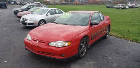 2004 Chevrolet Monte Carlo for sale at Credit Connection Auto Sales Inc. CARLISLE in Carlisle PA