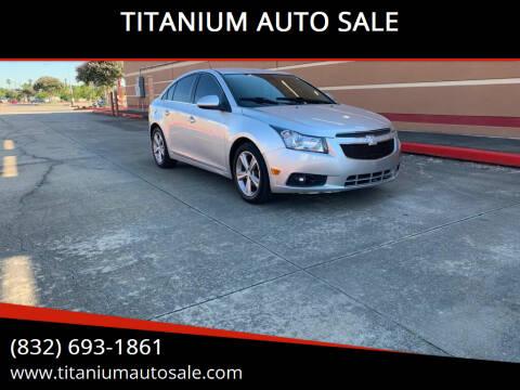 2013 Chevrolet Cruze for sale at TITANIUM AUTO SALE in Houston TX