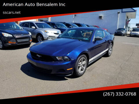 2010 Ford Mustang for sale at American Auto Bensalem Inc in Bensalem PA