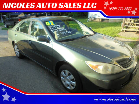 2002 Toyota Camry for sale at NICOLES AUTO SALES LLC in Cream Ridge NJ