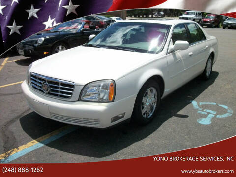 2005 Cadillac DeVille for sale at Yono Brokerage Services, INC in Farmington MI