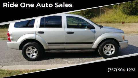 2005 Dodge Durango for sale at Ride One Auto Sales in Norfolk VA
