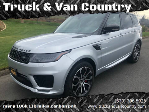 2018 Land Rover Range Rover Sport for sale at Truck & Van Country in Shingle Springs CA