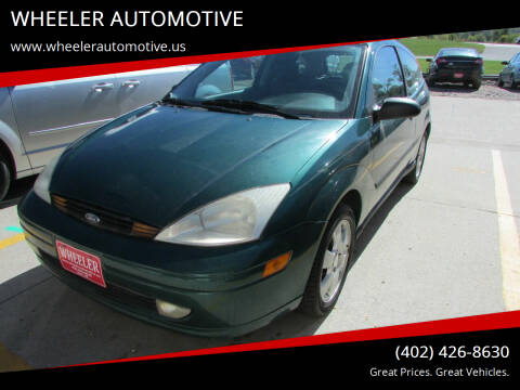 2001 Ford Focus for sale at WHEELER AUTOMOTIVE in Blair NE