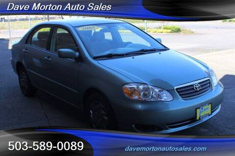 2005 Toyota Corolla for sale at Dave Morton Auto Sales in Salem OR