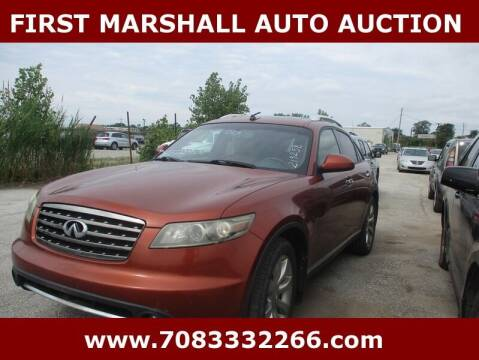 2007 Infiniti FX35 for sale at First Marshall Auto Auction in Harvey IL