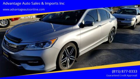 2016 Honda Accord for sale at Advantage Auto Sales & Imports Inc in Loves Park IL