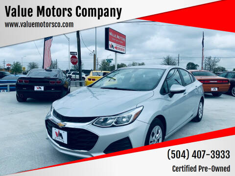 2019 Chevrolet Cruze for sale at Value Motors Company in Marrero LA
