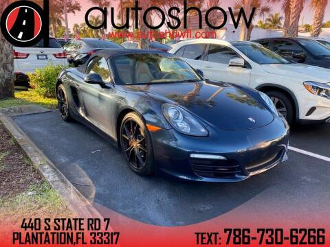 2013 Porsche Boxster for sale at AUTOSHOW SALES & SERVICE in Plantation FL