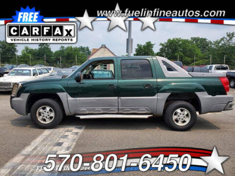 2002 Chevrolet Avalanche for sale at FUELIN FINE AUTO SALES INC in Saylorsburg PA