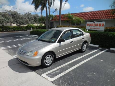 2001 Honda Civic for sale at Uzdcarz Inc. in Pompano Beach FL
