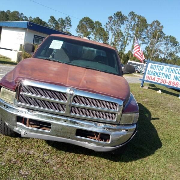 2001 Dodge Ram Pickup 1500 for sale at MOTOR VEHICLE MARKETING INC in Hollister FL