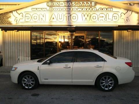 2012 Lincoln MKZ Hybrid for sale at Don Auto World in Houston TX