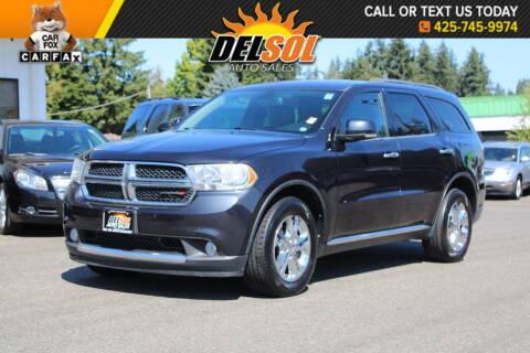 2013 Dodge Durango for sale at Del Sol Auto Sales in Everett WA