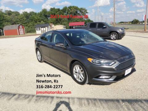 2017 Ford Fusion for sale at Jim's Motors in Newton KS