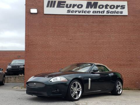 2008 Jaguar XK-Series for sale at Euro Motors LLC in Raleigh NC