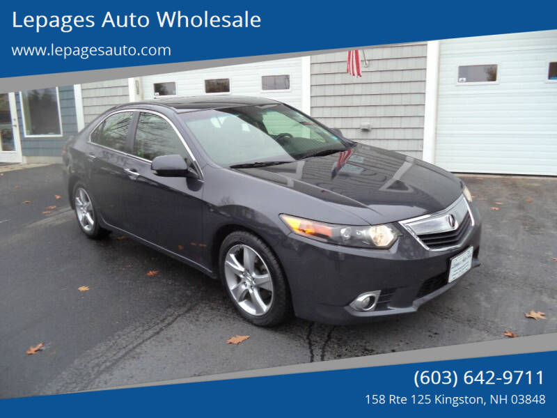 2013 Acura TSX for sale at Lepages Auto Wholesale in Kingston NH