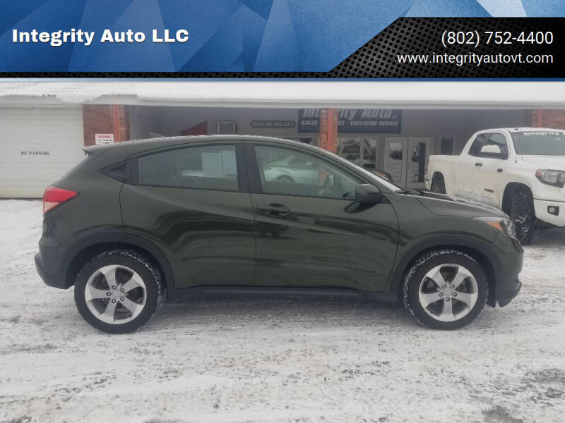 2018 Honda HR-V for sale at Integrity Auto LLC - Integrity Auto 2.0 in St. Albans VT