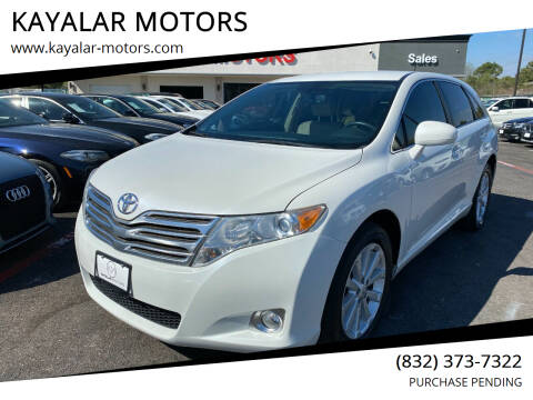 2011 Toyota Venza for sale at KAYALAR MOTORS in Houston TX