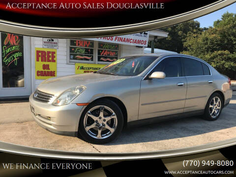 2003 Infiniti G35 for sale at Acceptance Auto Sales Douglasville in Douglasville GA