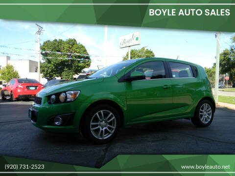 2015 Chevrolet Sonic for sale at Boyle Auto Sales in Appleton WI